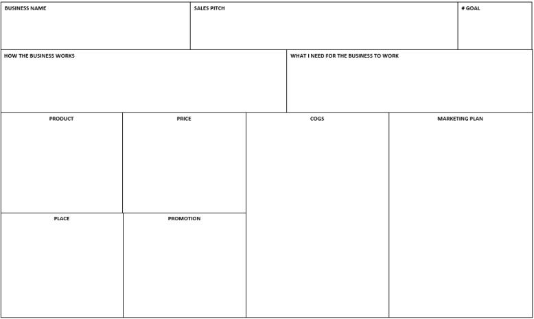 1 Pg Biz Plan Pic