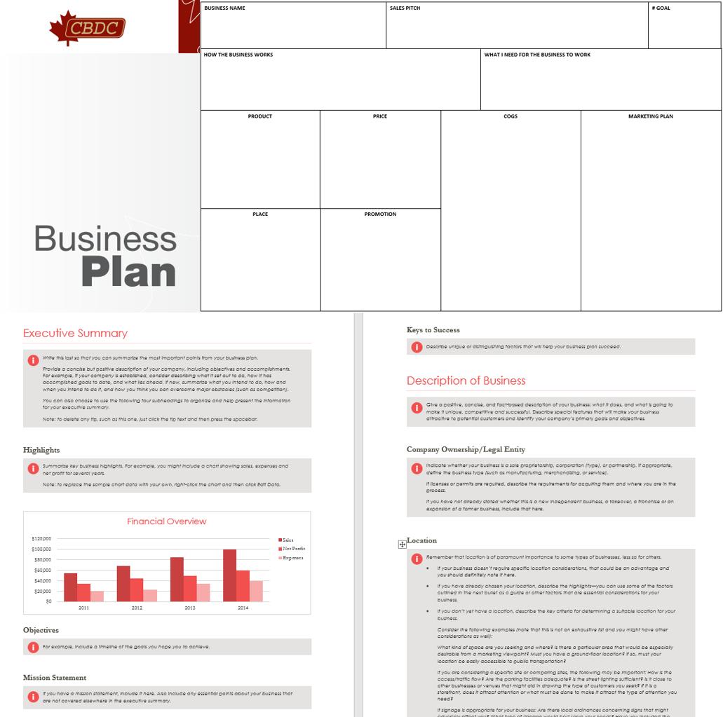 business plan template cbdc